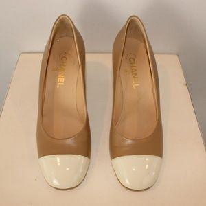 Chanel cap toe pumps